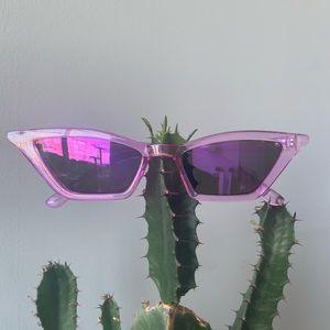 NWOT Purple Cat Eye Lucite Sunglasses
